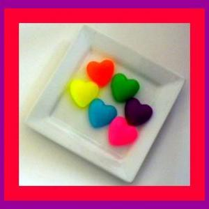 Soap - Puffy Hearts in Neon Colors ..