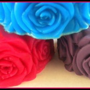 Soap - Rose - Flower Soap - Made wi..