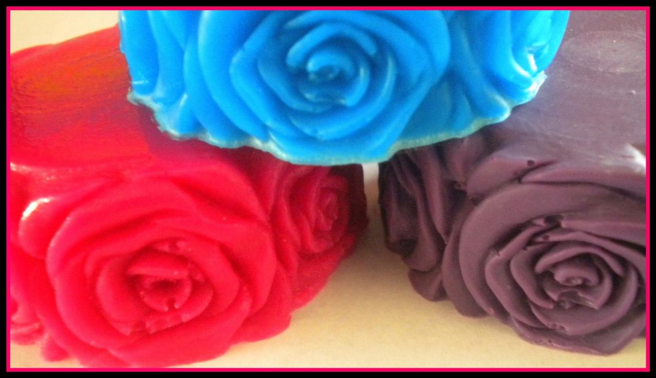 Soap - Rose - Flower Soap - Made with Goat's Milk - Bridal Showers - Party Favors