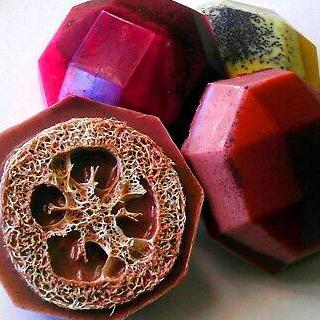 Soap - NEW - Comfort Collection Loofah Soaps - Gift Set of 4 Exfoliating Soaps